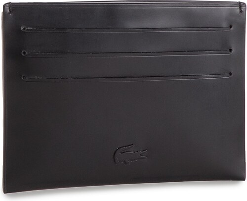 Púzdro na kreditné karty LACOSTE - Credit Card Holder NH1616WT Black ... f9fa7a7cf38