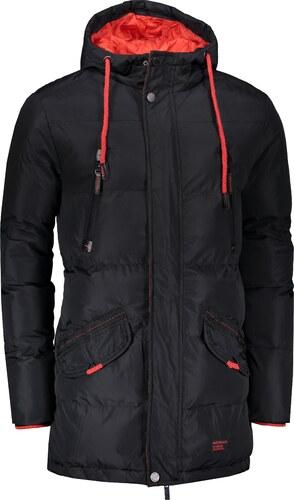 Pánská bunda OMBRE AC383 BLACK - Glami.cz bf745602a8