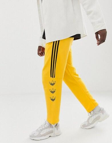 5566f784a adidas Originals Trefoil Stripe Joggers DV3149 Yellow - Yellow ...