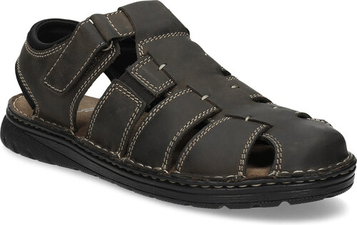 5ba8dbd26502 Baťa Pánske hnedé kožené sandále s plnou špičkou - Glami.sk