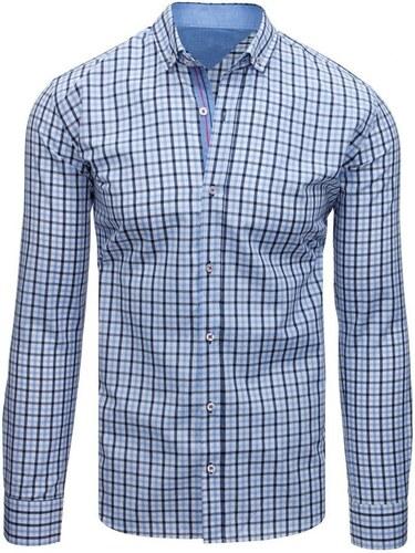 c3ffff66f8cc Modro-biela pánska kockovaná košeľa - Glami.sk