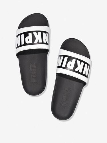 Dámské pantofle Victoria s Secret PINK černobílé - Glami.cz 554c853ce9