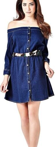 Guess dámské modré šaty Naomi - Glami.cz ce418933b29