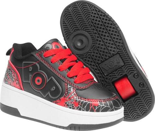 Heelys Pop Strike Childrens Skate Shoes Black Red - Glami.cz 95602e84fe