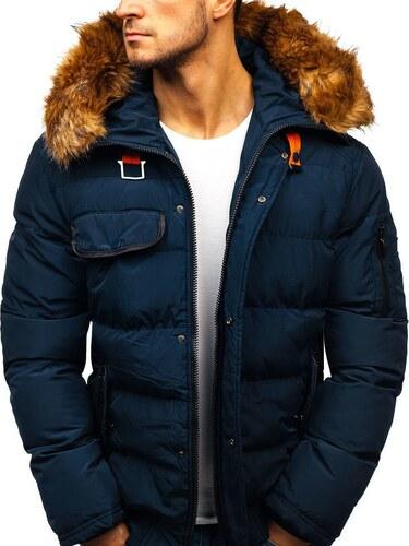 Tmavě modrá pánská zimní bunda Bolf 5287 - Glami.cz 6136c55800