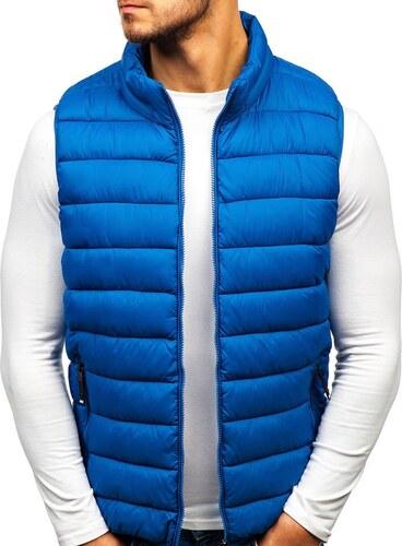 Modrá pánska prešívaná vesta BOLF 1262 - Glami.sk 08f25b1f9b8