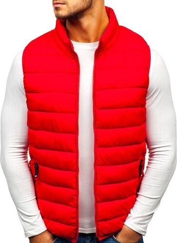 Červená pánska prešívaná vesta BOLF 1262 - Glami.sk 97493d5f99a