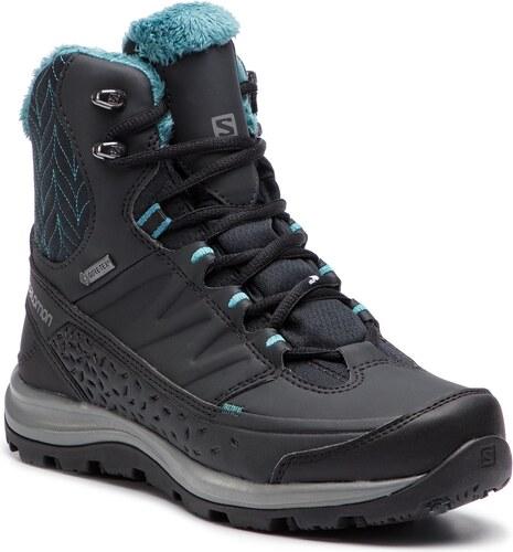 Nové -33% Trekingová obuv SALOMON - Kaina Mid Gtx GORE-TEX 404735 21 V0  Phantom Black b7a276d96f0