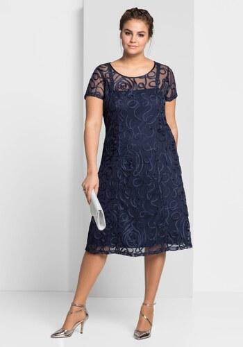 sheego Style Krajkové šaty námořická modrá - Glami.cz e5bb4de7df