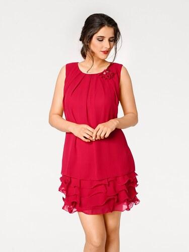 1ce816338299 heine TIMELESS Koktailové šaty s volánmi červená - Glami.sk