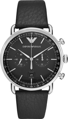 1c6d7ea37a1 Hodinky EMPORIO ARMANI - Aviator AR11143 Silver Black - Glami.cz