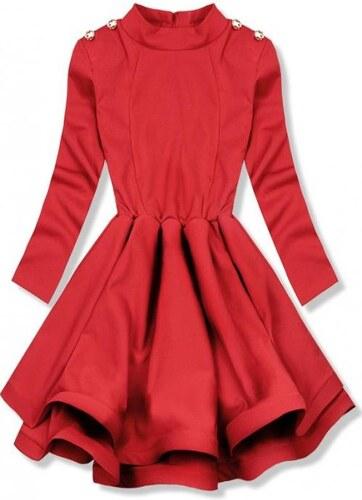 Trendovo Červené elegantné šaty s kruhovou sukňou - Glami.sk 10ac50c3740