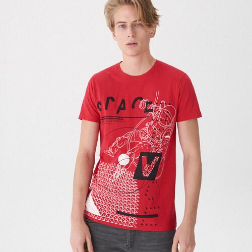 c372354829a3 House - Tričko s potlačou s motívom kozmonauta - Červená - Glami.sk