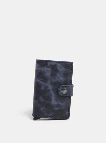 Modrá kožená peňaženka s hliníkovým puzdrom s RFID Secrid Miniwallet ... 29eefe69e6a