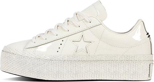 Converse Dámske biele kožené nízke tenisky One Star Platform Patented 90 s 45507d106d1