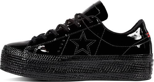 Converse Dámské černé kožené nízké tenisky tenisky One Star Platform  Patented 90 s 2211d958a2
