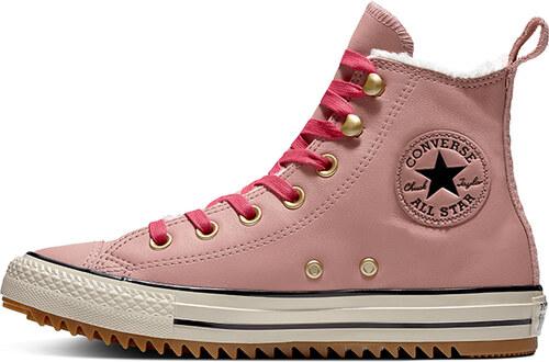 Converse Dámské růžové kožené vysoké tenisky Chuck Taylor All Star Hiker  Boot cc98f393f0