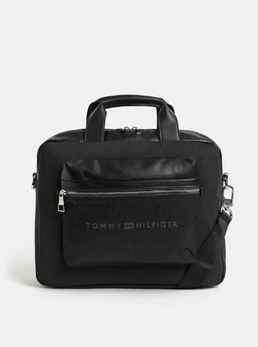 Nové Čierna pánska taška na notebook s odnímateľným popruhom Tommy Hilfiger a0ae2579dd2
