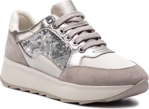 Nové Sneakersy GEOX - D Gendry B D745TB 0AJAY C1N1W Lt Silver Silver 48cf4b9564