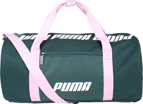 -15% PUMA Sportovní taška  WMN Core Barrel  smaragdová   světle růžová    bílá f60ef5a7aec