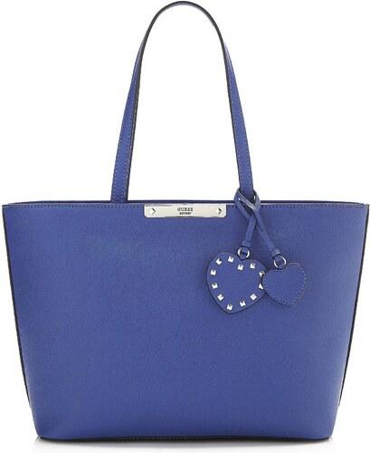 Kabelka Guess Britta modrá - Glami.cz 44b5b82705e