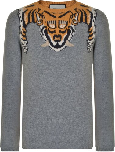 Gucci Tiger Detail Wool Sweatshirt - Glami.hu 800cc04303