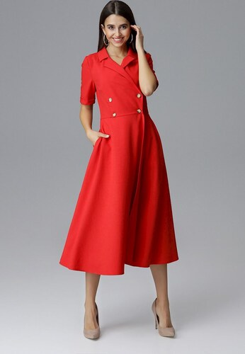 eb6bb658399a FIGL Červené dlhšie šaty M632 Red - Glami.sk