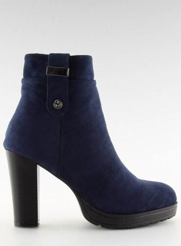 fa96b9c94625d LaraRuby.sk BK3233 Dámske topánky na opätku, tmavo modré - Glami.sk