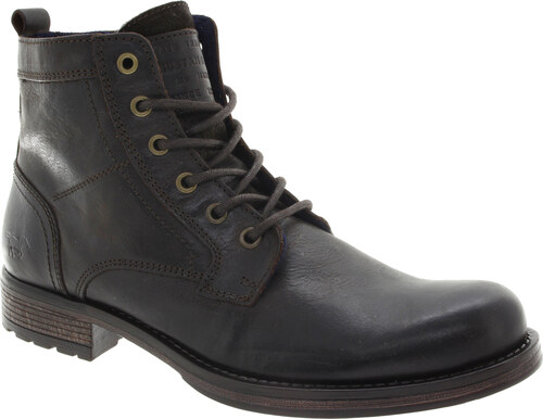 MUSTANG Pánská kotníková kožená obuv braun 4865507-32-267 - Glami.cz 3937ccb559