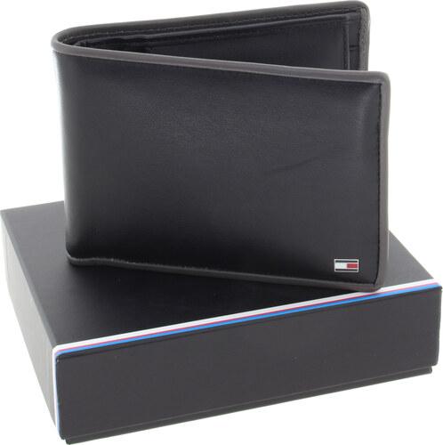 7752c16af3 TOMMY HILFIGER Pánská kožená peněženka black grey AM0AM03656-901-632 ...