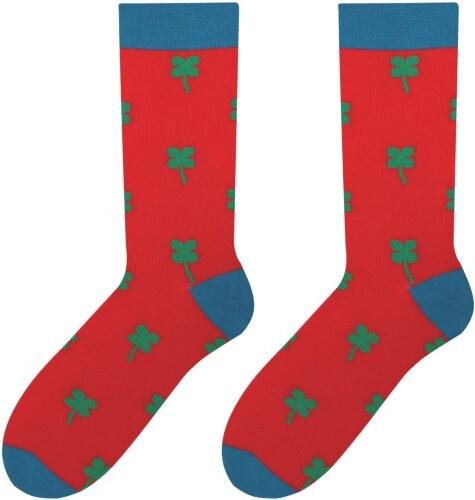 50f289b861e Červené ponožky More so štvorlístkami - Glami.sk