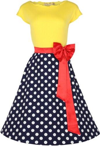 YVETTE veselé puntíkaté šaty ve stylu rockabilly - Retro Šaty - Glami.cz 9822971d3f