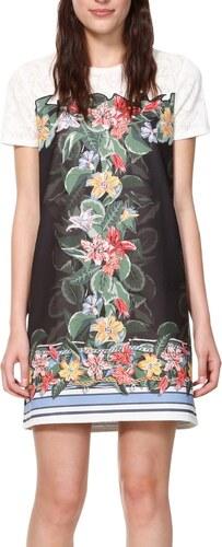 Desigual farebné šaty Vest Natalia - Glami.sk 45680b57403