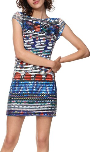 Desigual barevné šaty Vest Fiona - XS - Glami.cz 613f457dff8