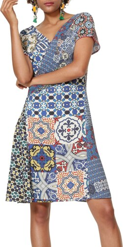 ce91cc0239 Desigual szines ruha Vest Saya - Glami.hu