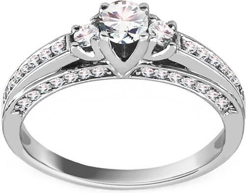 b64bbf53b iZlato Forever Zásnubní prsten z bílého zlata s diamanty 0,500 ct Idette  ROYBR026A