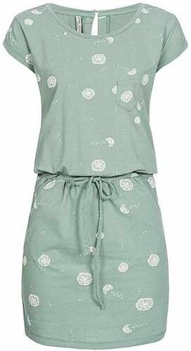 779e7d7d6a4e Fresh made dámské tričkové šaty s potiskem zelené - Glami.cz