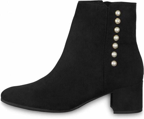 Tamaris kotníkové boty na podpatku 1-25360-21 s perlami black - Glami.cz 7ba7cc5c2f9