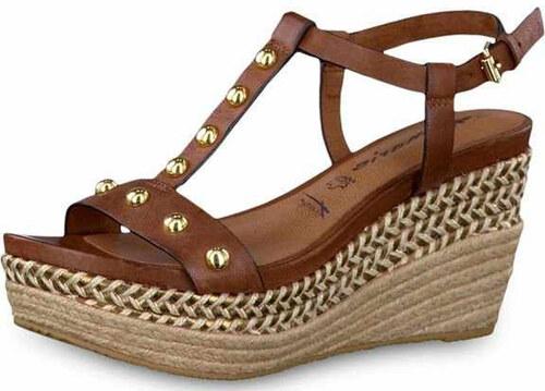 406c0293f9a0 Tamaris dámské sandále na klínu 1-28322-28 hnědé - Glami.cz