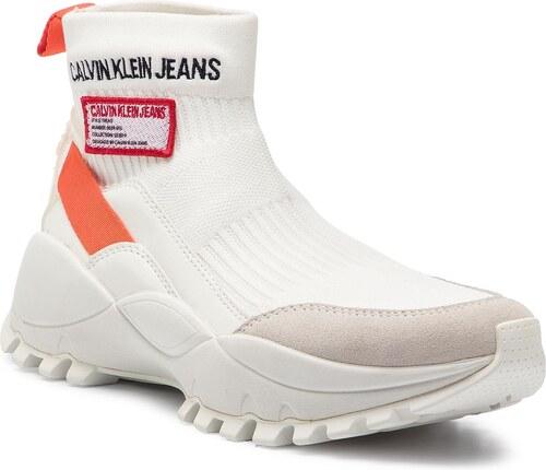 9f82f1e88a Sportcipő CALVIN KLEIN JEANS - Tysha R7812 Bright White/Orangea ...