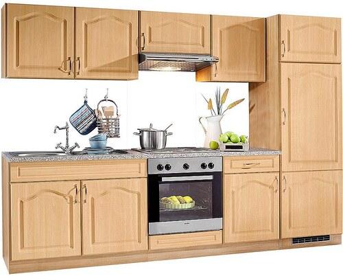 Küchenzeile »Linz«, Breite 270 cm, mit Edelstahl-Kochmulde