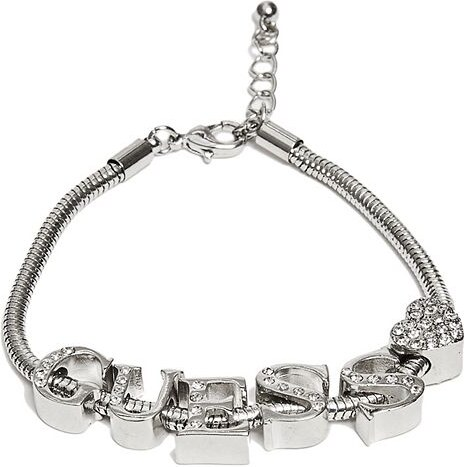 GUESS náramok Silver-Tone GUESS Rope Charm Bracelet ce6e2234b16