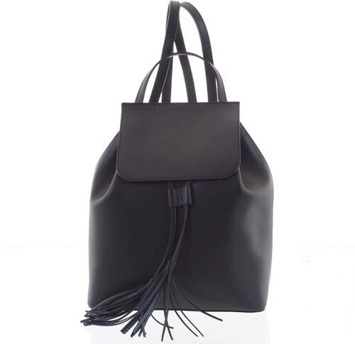 5d0565c9b1b Luxusný dámsky ruksak čierny kožený - ItalY Adelpha čierna - Glami.sk