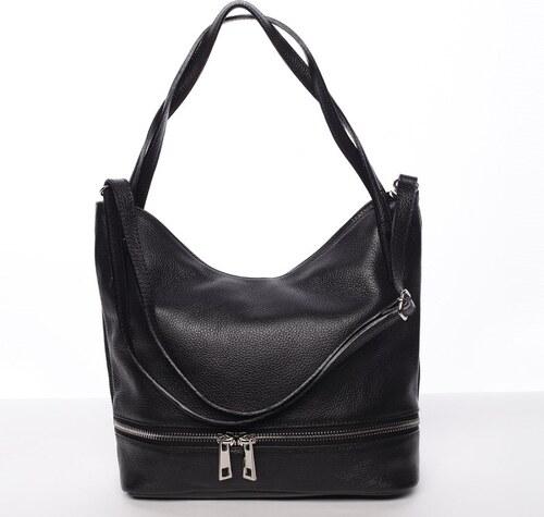 217395279e Dámska štýlová kožená kabelka cez rameno čierna - ItalY Acness čierna