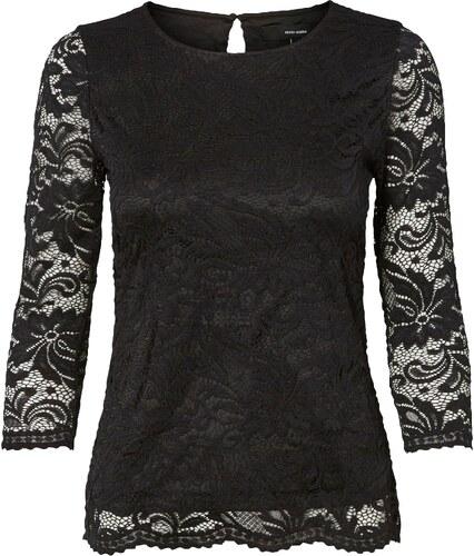 116e4d438e Vero Moda Čipkované tričko »SANDRA« čierna - Glami.sk