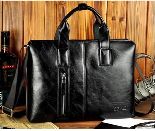 Pánská taška z pravé kůže Zefer černá