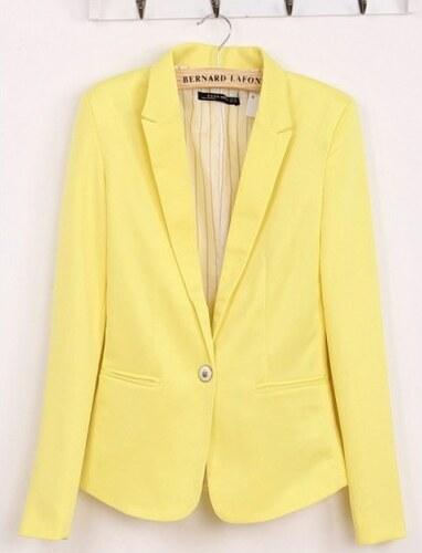 Dámské sako La-Togue žluté - žlutá