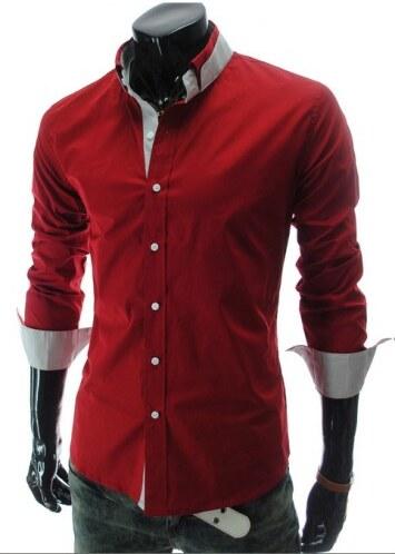 292c455ac9f Pánská košile Slim Fit Vinte Červená AKCE - červená - Glami.cz