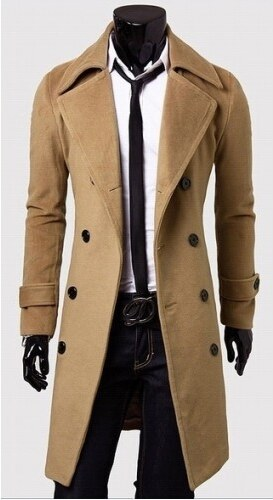 Pánský dlouhý kabát Libero béžový - béžová