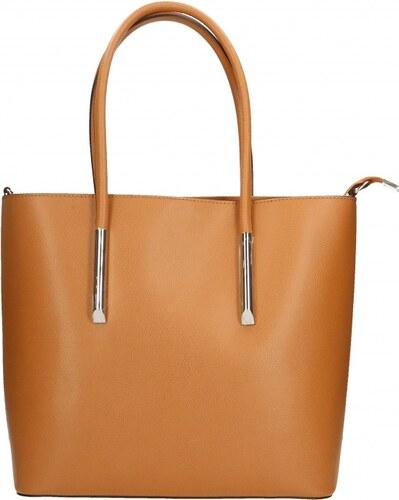 Kožená hnedá camel kabelka do ruky cherril VERA PELLE - Glami.sk 7681aadd4e4